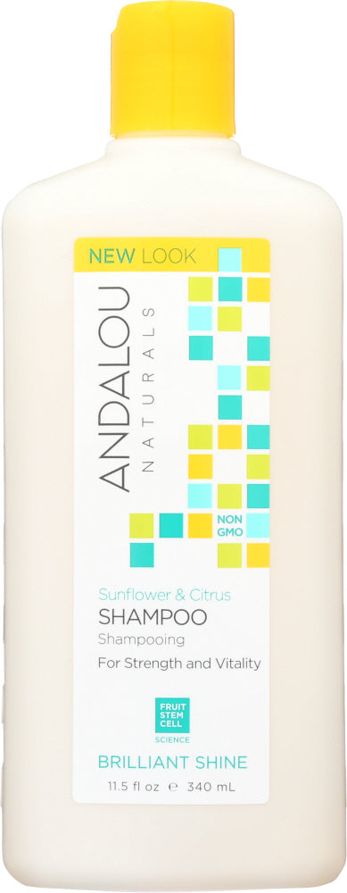 ANDALOU NATURALS: Brilliant Shine Shampoo Sunflower and Citrus, 11.5 Oz - One Body Beauty
