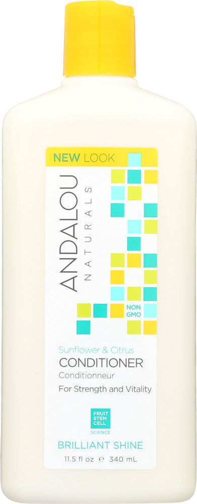 ANDALOU NATURALS: Brilliant Shine Conditioner Sunflower and Citrus, 11.5 Oz - One Body Beauty