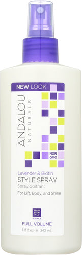 ANDALOU NATURALS: Full Volume Style Spray Lavender and Biotin, 8.2 Oz - One Body Beauty