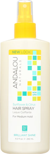 ANDALOU NATURALS: Perfect Hold Hair Spray Sunflower Citrus, 8.2 Oz - One Body Beauty