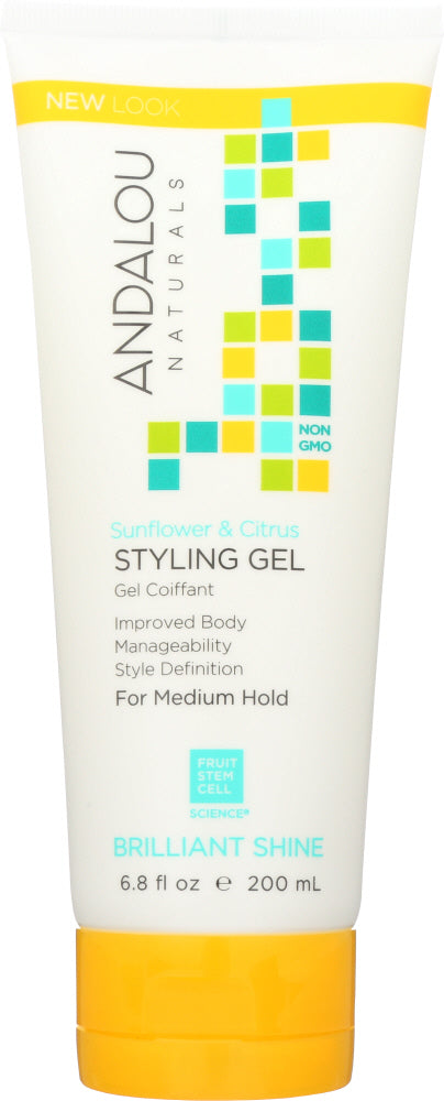 ANDALOU NATURALS: Sunflower & Citrus Medium Hold Styling Gel, 6.8 Oz - One Body Beauty