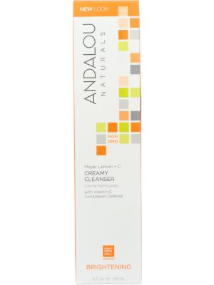 ANDALOU NATURALS: Creamy Cleanser Meyer Lemon Brightening, 6 oz - One Body Beauty