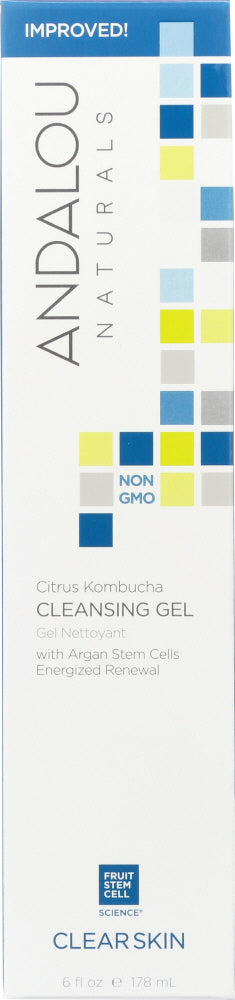 ANDALOU NATURALS: Cleansing Gel Citrus Kombucha Clarifying, 6 oz - One Body Beauty