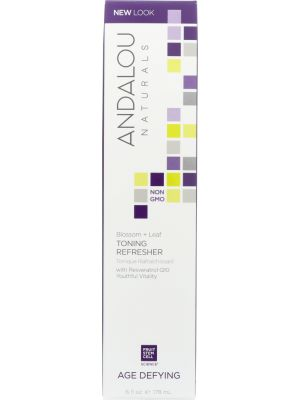 ANDALOU NATURALS: Toning Refresher Blossom + Leaf Age Defying, 6 oz - One Body Beauty