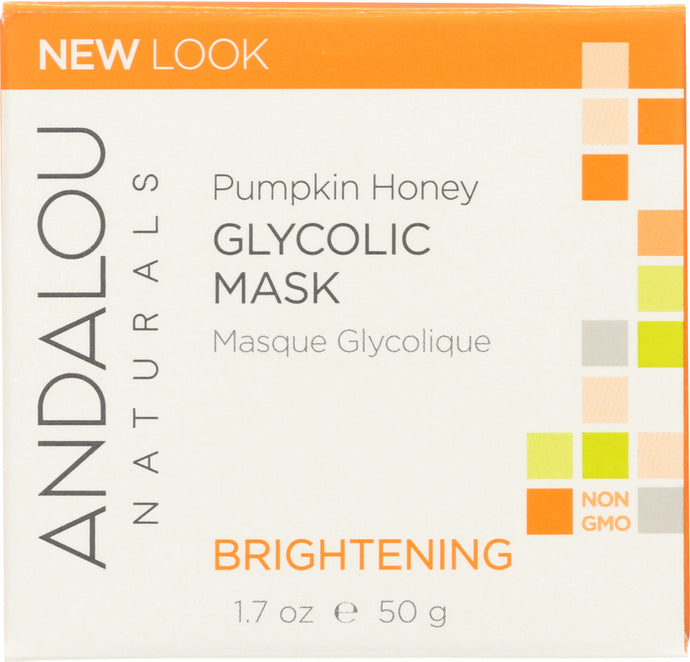 ANDALOU NATURALS: Glycolic Mask Pumpkin Honey Brightening, 1.7 oz - One Body Beauty