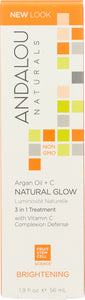 ANDALOU NATURALS:  Argan and Omega Natural Glow 3 in 1 Treatment Brightening, 1.9 Oz - One Body Beauty