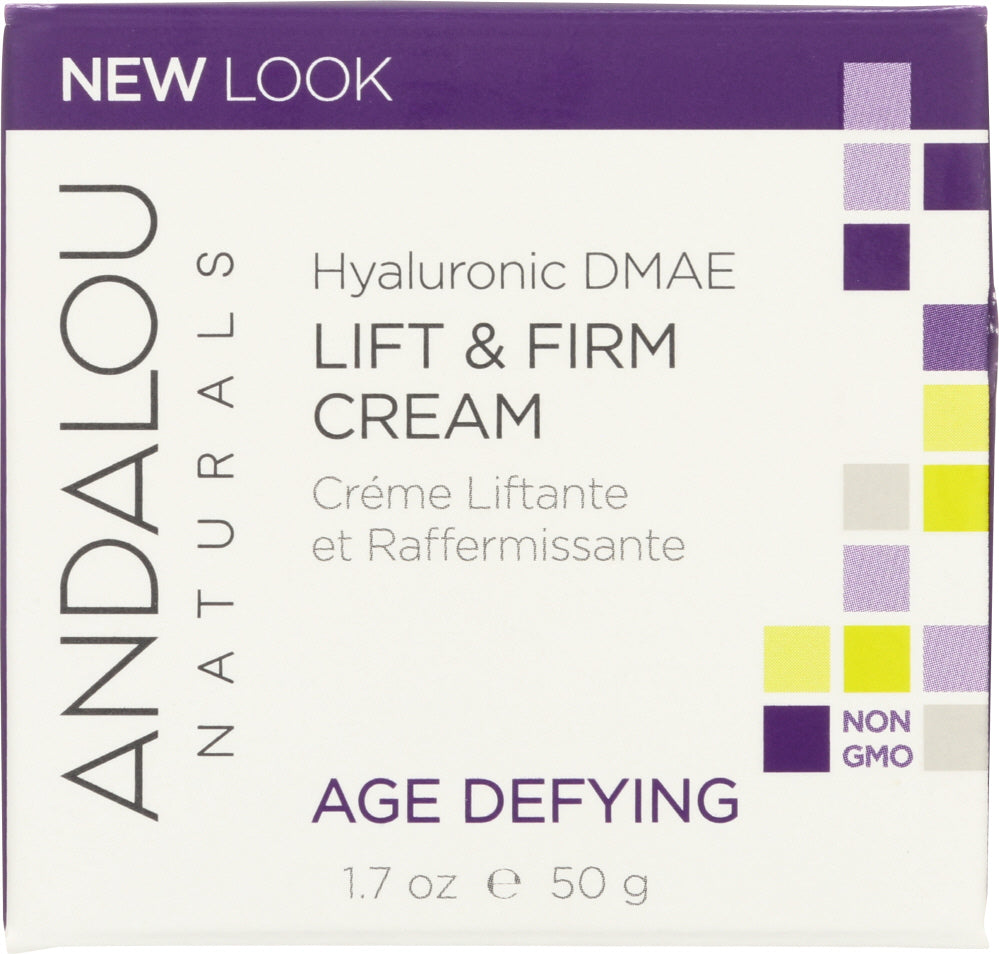 ANDALOU NATURALS: Hyaluronic DMAE Lift & Firm Cream, Non GMO, Paraben Free, 1.7 Oz - One Body Beauty
