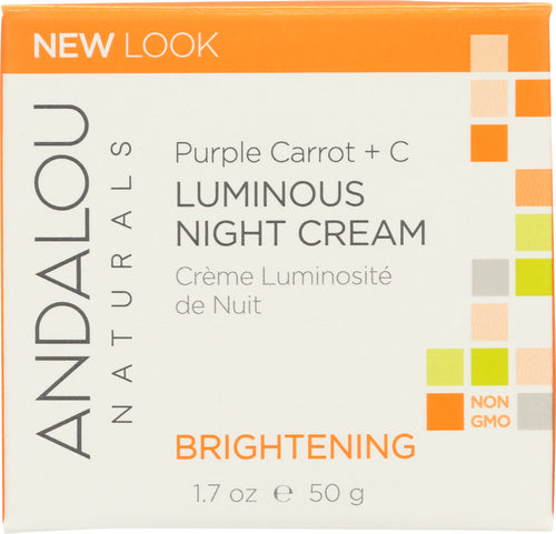 ANDALOU NATURALS: Luminous Night Cream Purple Carrot + C Brightening, 1.7 Oz - One Body Beauty