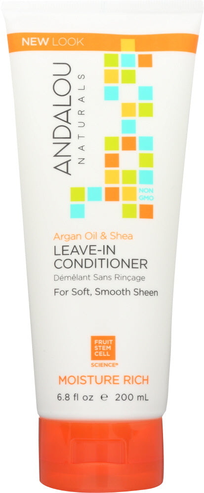 ANDALOU NATURALS: Argan Oil Plus+ Leave-In Conditioner Moisture Rich, 6.8 oz - One Body Beauty