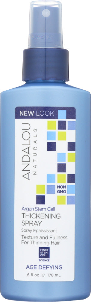 ANDALOU NATURALS: Argan Stem Cells Age Defying Thickening Spray, 6 oz - One Body Beauty