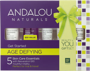 ANDALOU NATURALS: Get Started Age Defying Skin Care Essentials, 5 Piece Kit - One Body Beauty