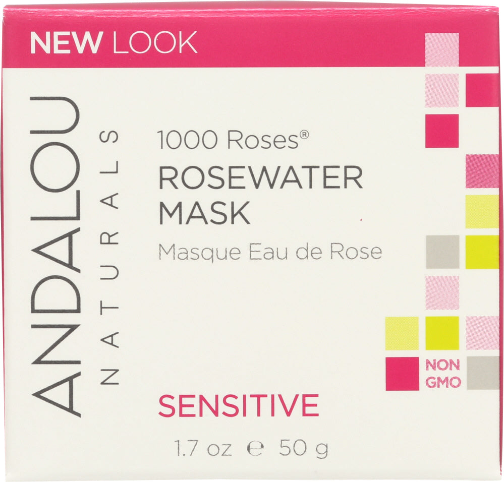 ANDALOU NATURALS: 1000 Roses Rosewater Mask, 1.7 oz - One Body Beauty