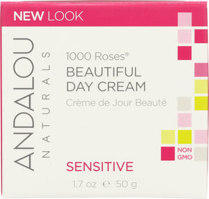 ANDALOU NATURALS: 1000 Roses Beautiful Day Cream, 1.7 oz - One Body Beauty