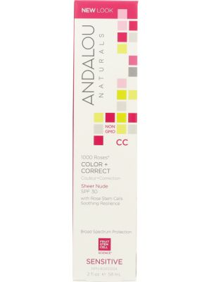 ANDALOU NATURALS: 1000 Roses CC Color + Correct Sensitive Sheer Nude, 2 oz - One Body Beauty