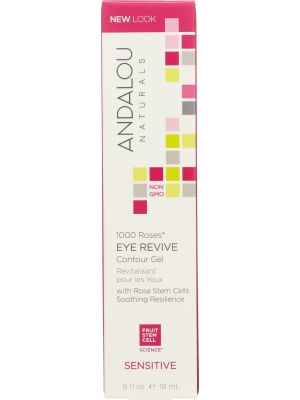 ANDALOU NATURALS: 1000 Roses Eye Revive Contour Gel Sensitive, 0.6 oz - One Body Beauty
