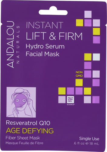 ANDALOU NATURALS: Instant Lift & Firm Hydro Serum Facial Mask Age Defying, 0.6 oz - One Body Beauty