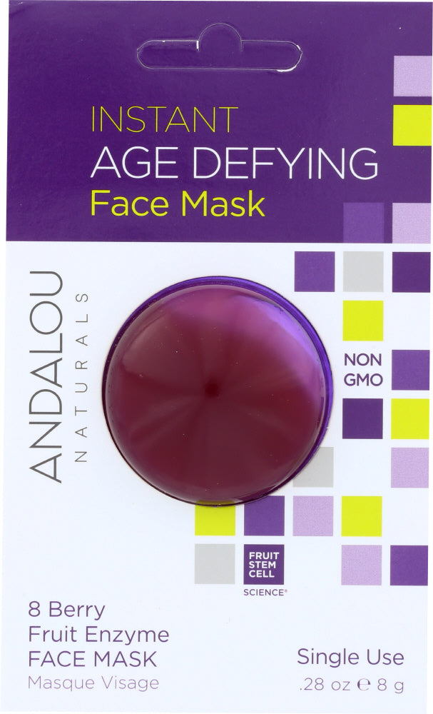 ANDALOU NATURALS: Instant Age Defying Face Mask 8 Berry Fruit Enzyme, 0.28 oz - One Body Beauty