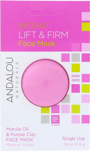 ANDALOU NATURALS: Instant Lift & Firm Face Mask Marula Oil & Purple Clay, 0.28 oz - One Body Beauty