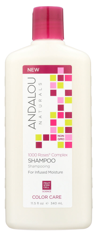 ANDALOU NATURALS: 1000 Roses Complex Color Care Shampoo, 11.5 oz - One Body Beauty