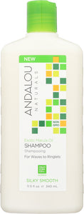 ANDALOU NATURALS: Exotic Marula Oil Silky Smooth Shampoo, 11.5 oz - One Body Beauty