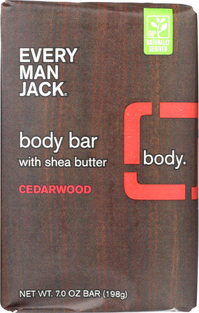 EVERY MAN JACK: Body Bar Cedarwood, 7 Oz
