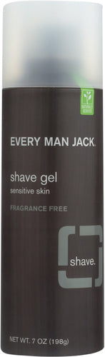 EVERY MAN JACK: Sensitive Skin Shave Gel Fragrance Free, 7 oz
