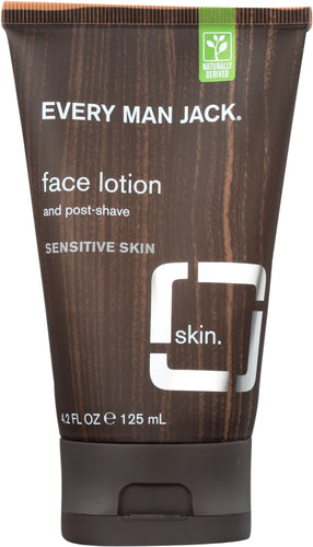 EVERY MAN JACK: Face Lotion and Post-Shave Fragrance Free, 4.2 oz