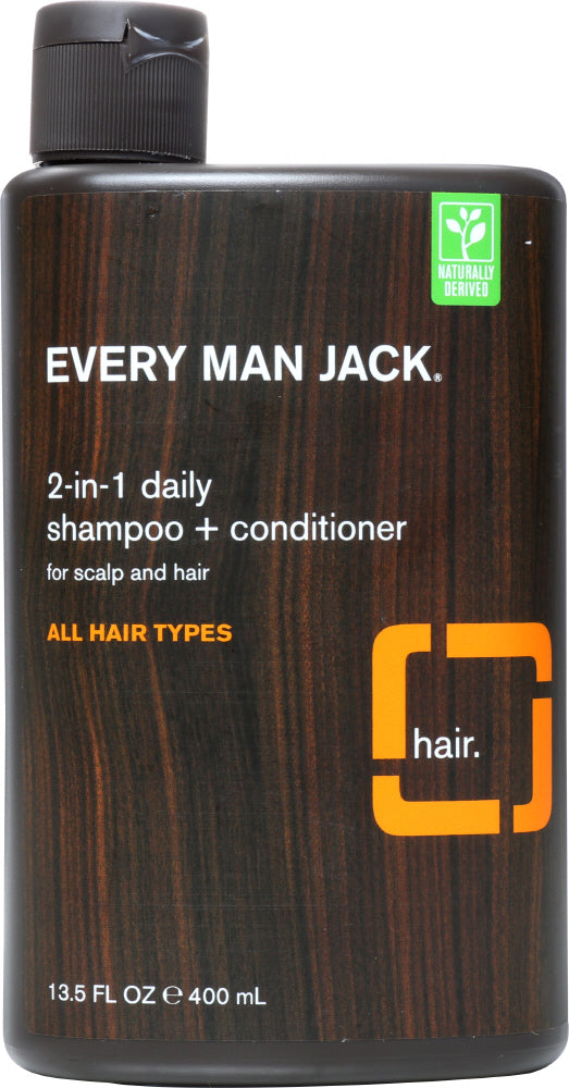 EVERY MAN JACK: 2-in-1 Daily Shampoo + Conditioner, 13.5 oz