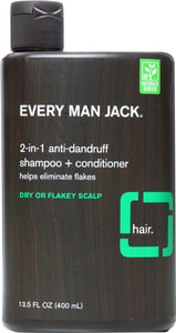 EVERY MAN JACK: 2 in 1 Anti Dandruff Shampoo, 13.5 oz