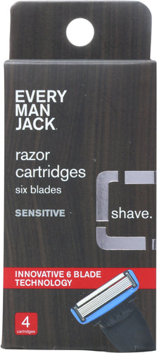 EVERY MAN JACK: Sensitive Razor 4 pack, 6 each