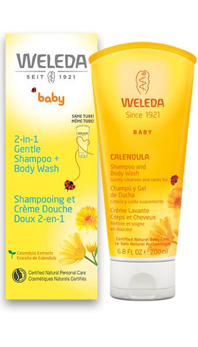 WELEDA: Body Wash and Shampoo Calendula, 6.8 fo