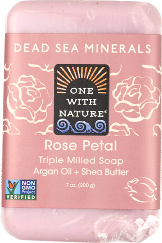 ONE WITH NATURE: Rose Petal Soap Bar, 7 oz