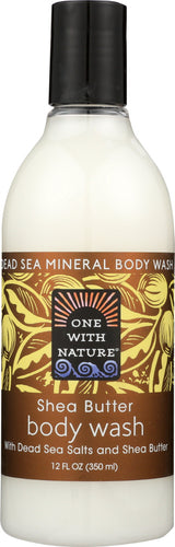 ONE WITH NATURE: Shea Butter Dead Sea Mineral Body Wash, 12 oz