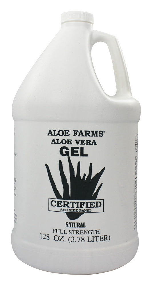 ALOE FARMS: Aloe Vera Gel Organic Gallon, 128 oz - One Body Beauty
