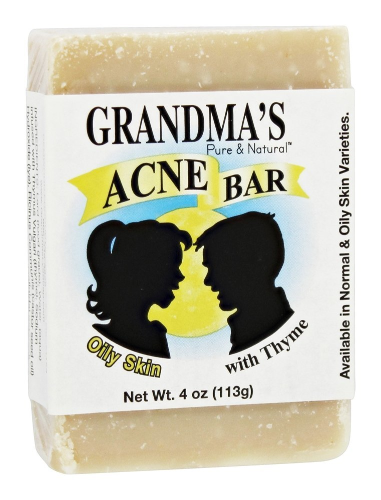 GRANDMA'S: Pure & Natural Soap Acne Bar for Oily Skin, 4 oz