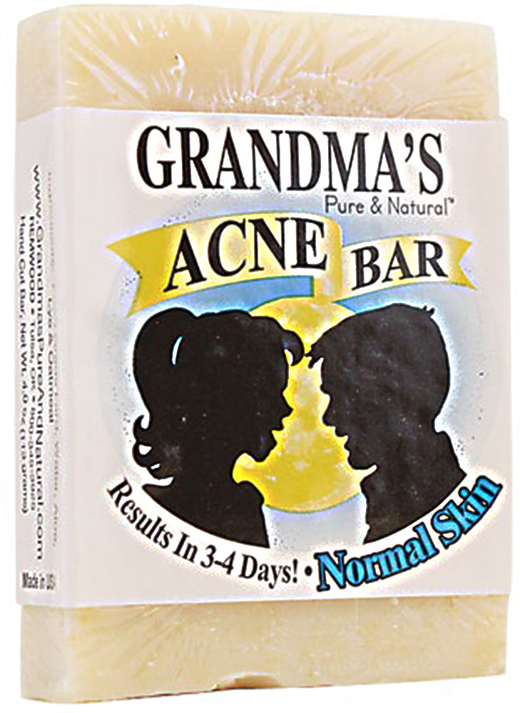 GRANDMA'S: Pure & Natural Acne Bar For Normal Skin, 4 oz