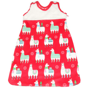 Merry-Making Llamas in Red