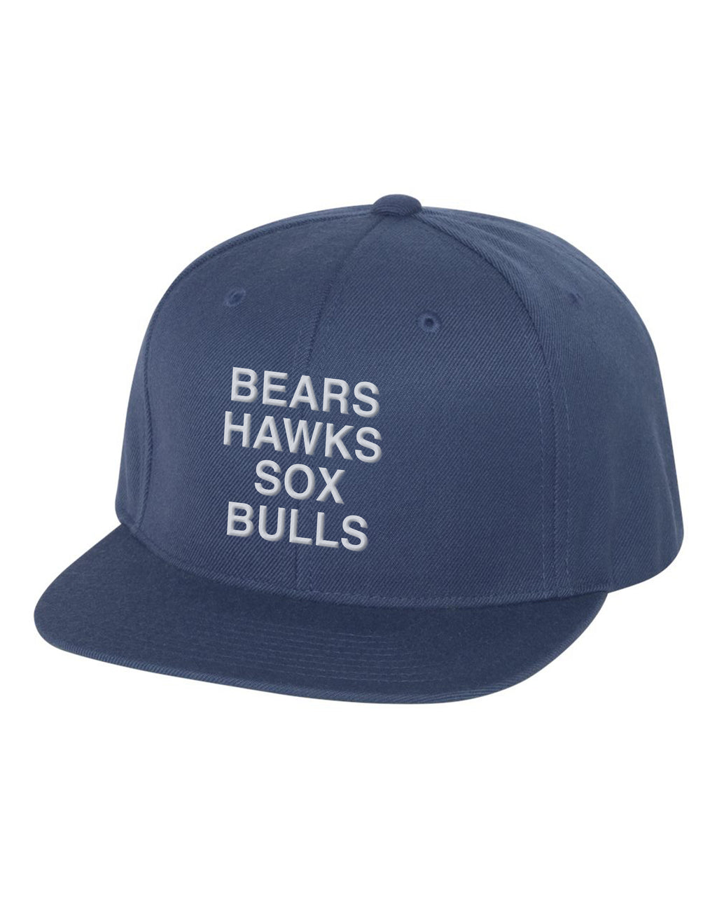 // 7 DAY PRESALE // BEARS HAWKS SOX BULLS SNAPBACK HAT - NAVY