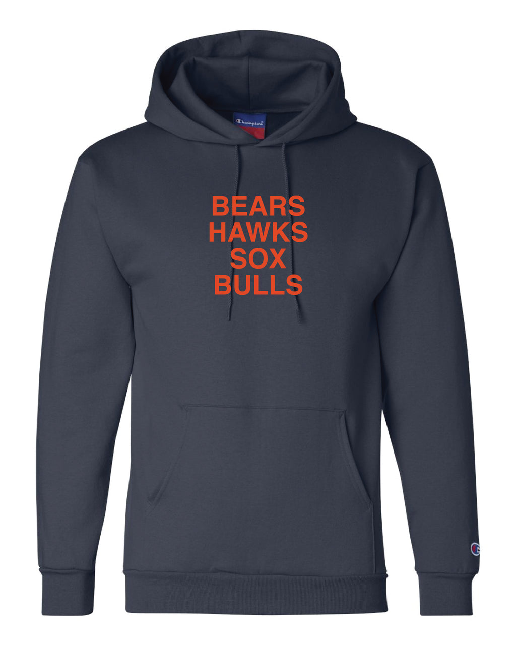 // 7 DAY PRESALE // BEARS HAWKS SOX BULLS HOODIE - NAVY