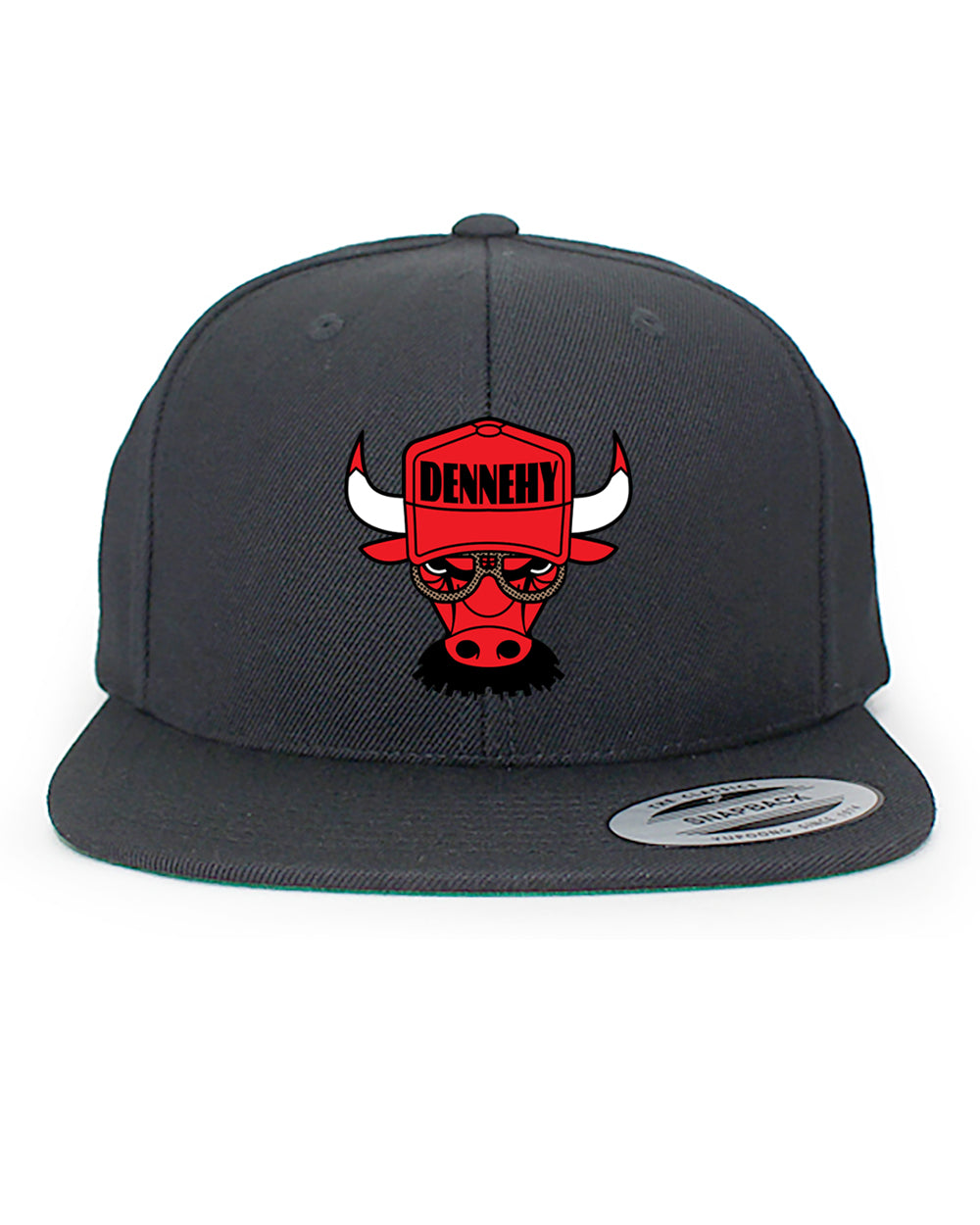 // 7 DAY PRESALE // DENNEHY BULLS SNAPBACK HAT - BLACK