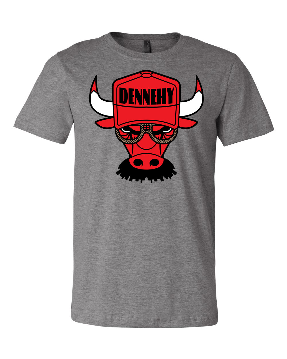 // 7 DAY PRESALE // DENNEHY BULLS TEE - DARK HEATHER
