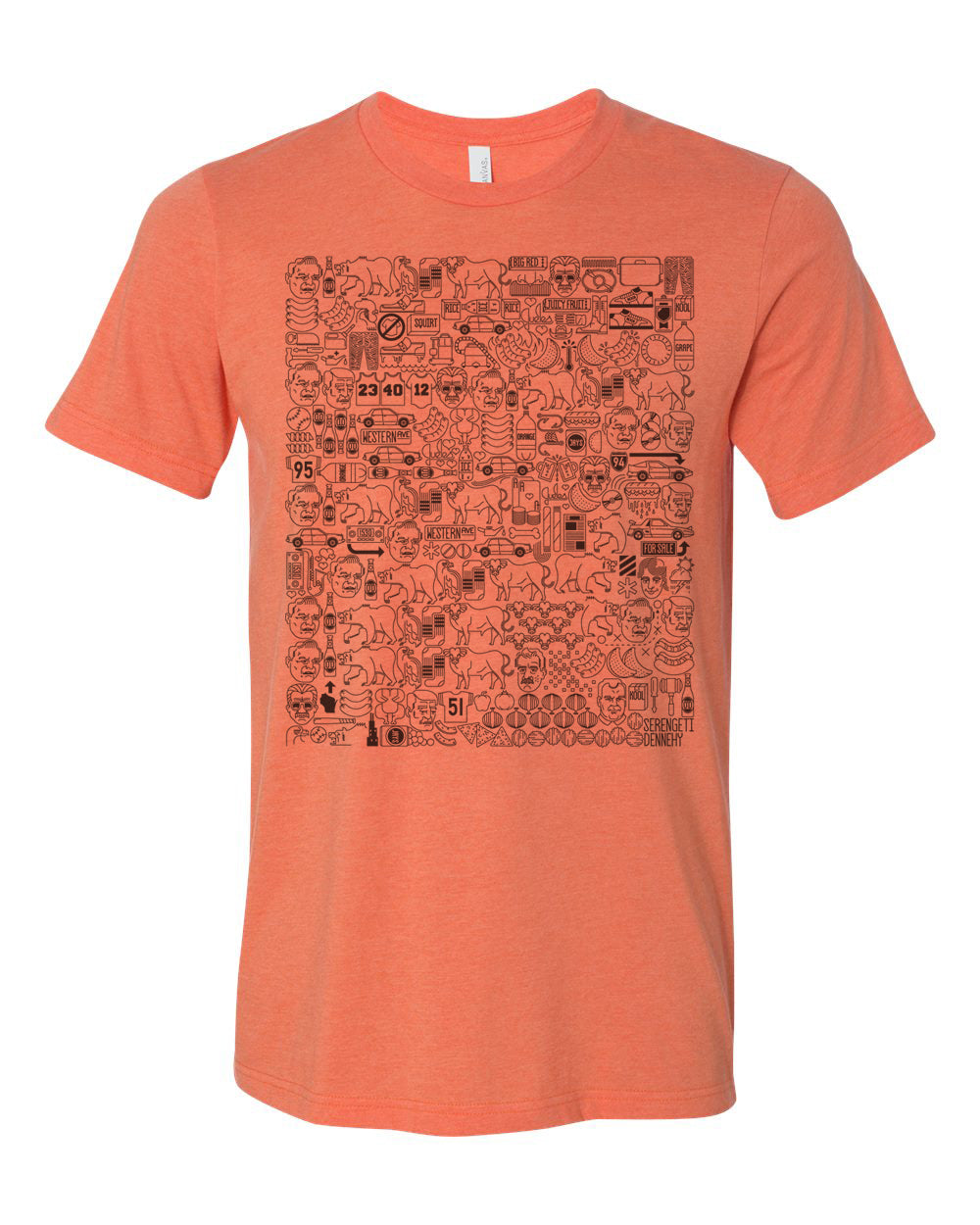 // 7 DAY PRESALE // DENNEHY LYRICS TEE - HEATHER ORANGE