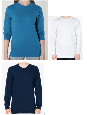 American Apparel long sleeve t-shirt photos