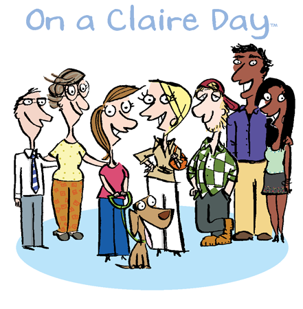 On a Claire Day logo getting our comic strip syndicated
