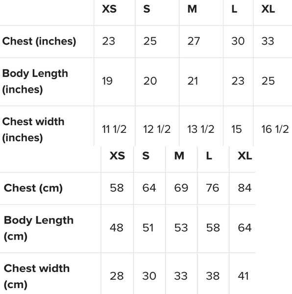 Next Level Princess Tee Shirt Size Guide