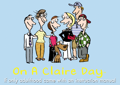 On a Claire Day logo