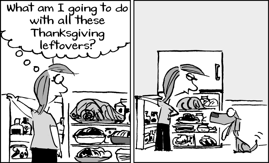 On a Claire Day Thanksgiving Comic Strip
