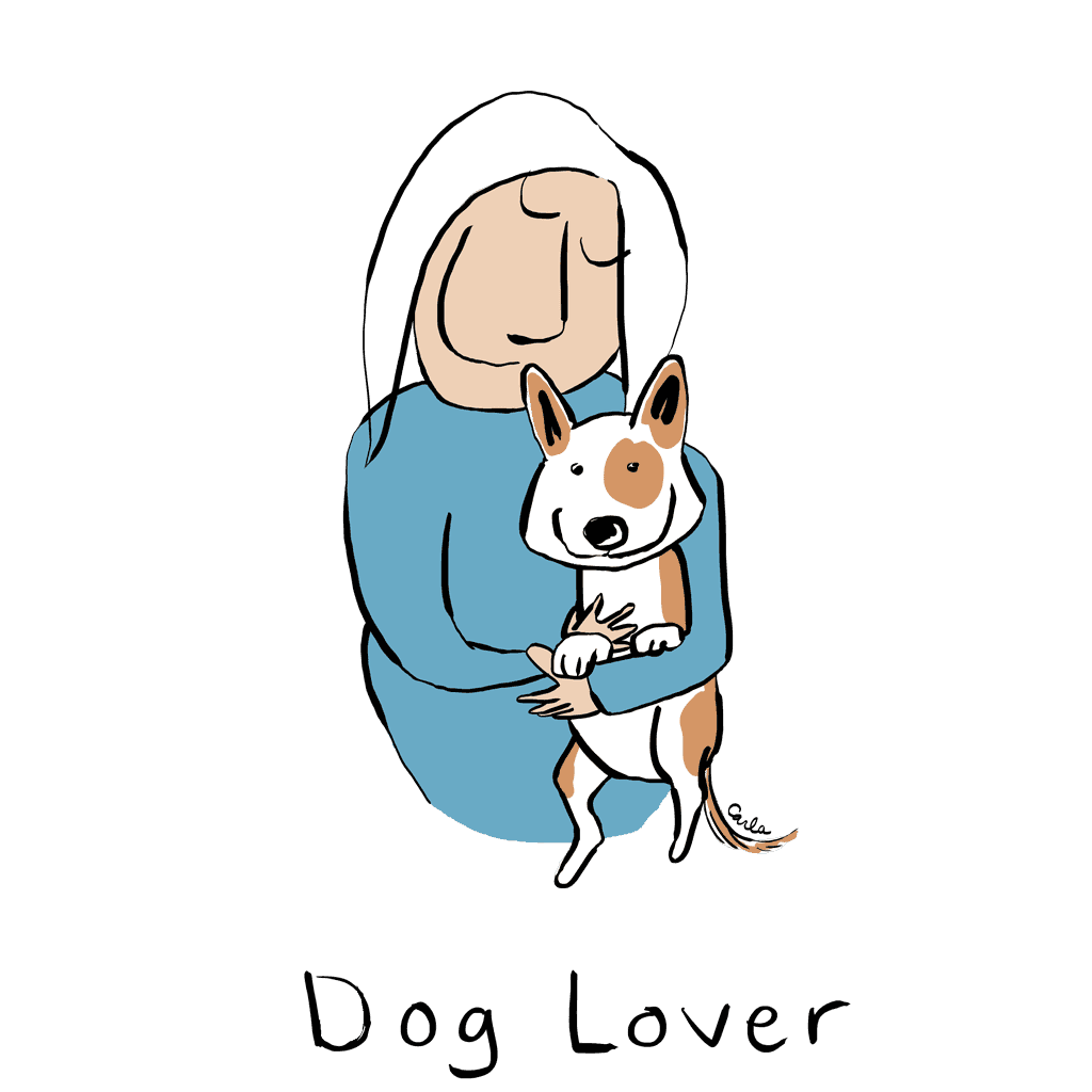 Dog lover carla miller art