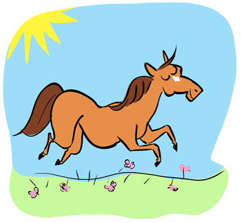Carla Miller Design horse cartoon