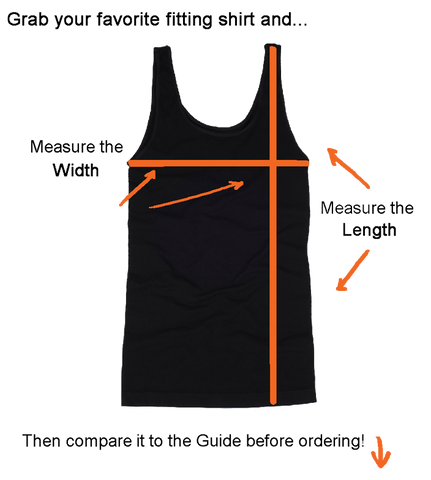 How to measure tank top